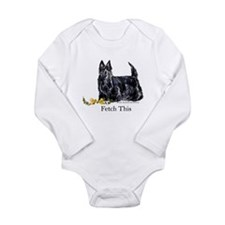 Scottish Terrier Holiday Dog Long Sleeve Infant Bo