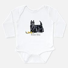 Scottish Terrier Holiday Dog Long Sleeve Infant Bo