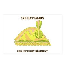 DUI - 2nd Bn - 3rd Infantry Regt with Text Postcar