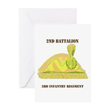 DUI - 2nd Bn - 3rd Infantry Regt with Text Greetin