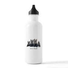 Scottish Terrier Winter Water Bottle