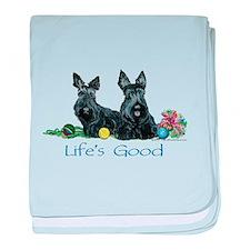 Life is Good - Scotties baby blanket