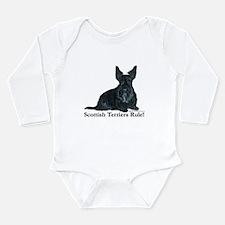 Scottish Terriers Rule! Long Sleeve Infant Bodysui