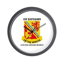 DUI - 1st Bn - 37th FA Regt with Text Wall Clock