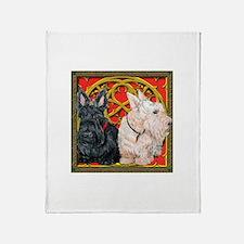 Scottish Terriers Wheaten Cel Throw Blanket