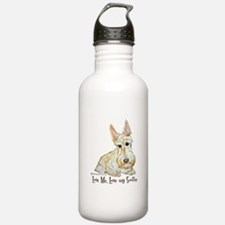 Wheaten Scottish Terrier Water Bottle