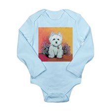 West Highland White Portrait Long Sleeve Infant Bo