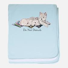 WestHighland White Terrier Da baby blanket