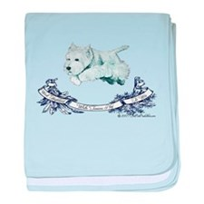 Westhighland Agility Terrier baby blanket