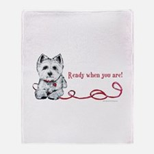 Westhighland White Terrier Re Throw Blanket