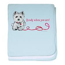 Westhighland White Terrier Re baby blanket