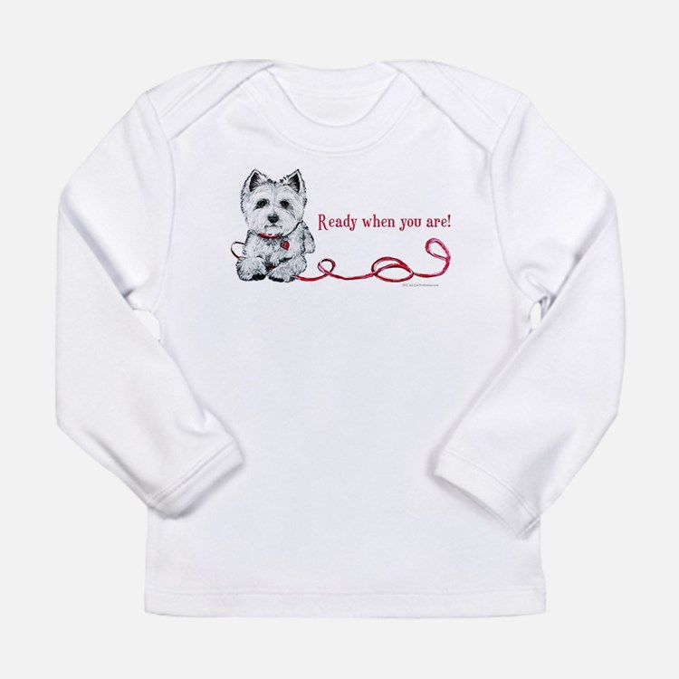 Westhighland White Terrier Re Long Sleeve Infant T