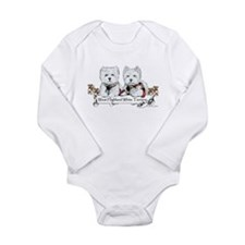West Highland White Terriers Long Sleeve Infant Bo