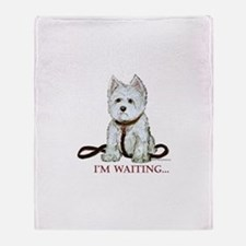Westie Walks Throw Blanket