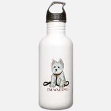 Westie Walks Water Bottle