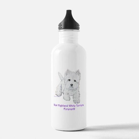 Westies Forever!! Water Bottle