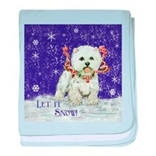Westhighland Snow Terrier baby blanket