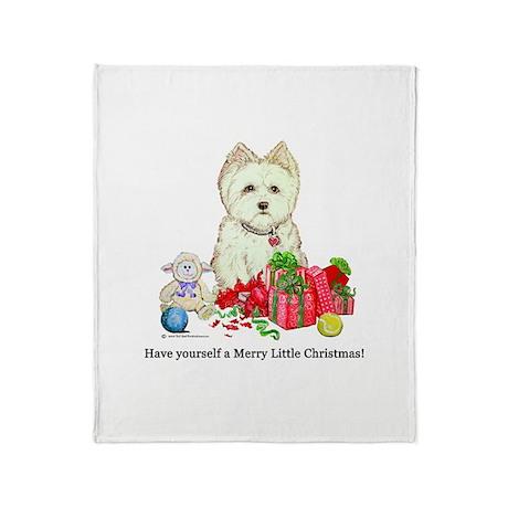 Westie Holiday Throw Blanket