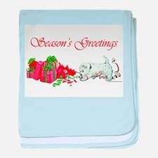 Westie Greetings baby blanket