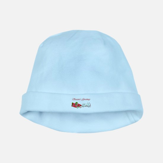 Westie Greetings baby hat