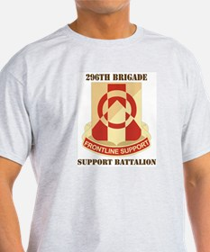DUI - 296th Bde - Support Bn with Text T-Shirt