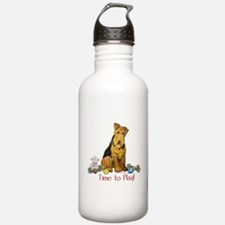 Time to Play Airedale! Water Bottle