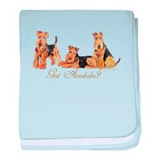 Got Airedale Terriers? baby blanket