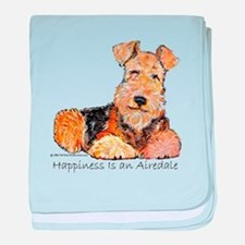 Airedale Happiness baby blanket