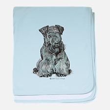 Cesky Terrier baby blanket