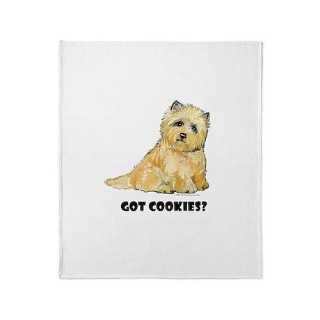 Cairn Terrier - Got Cookies? Throw Blanket