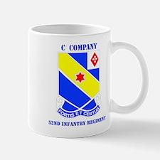 DUI - C Company - 52nd Infantry Regt with Text Mug