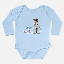 Fox Terrier Walk Long Sleeve Infant Bodysuit