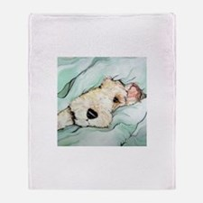 Napping Wire Fox Terrier Throw Blanket