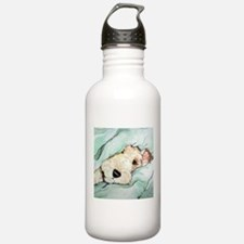 Napping Wire Fox Terrier Water Bottle