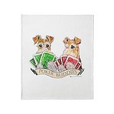 Poker Buddies Throw Blanket