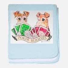 Poker Buddies baby blanket