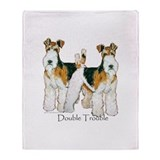 Wire fox terrier Fleece Blankets