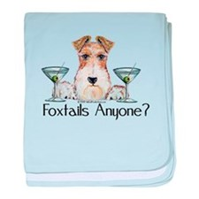 Wire Fox Terrier Pary baby blanket