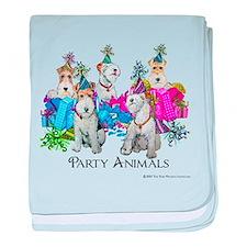 Fox Terrier Party Animals baby blanket