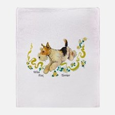Fox Terrier Frolic Throw Blanket