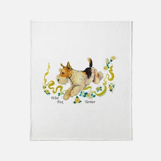 Fox Terrier Frolic Throw Blanket