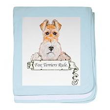 Fox Terriers Rule baby blanket