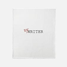 Re-Writer Throw Blanket
