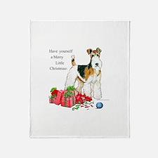 Merry Little Fox Terrier Throw Blanket