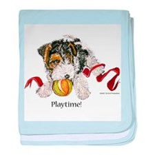 Fox Terrier Puppy baby blanket