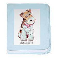 Fox Terrier Pup baby blanket