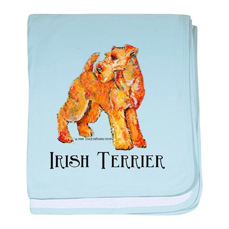 Irish Terrier Profile baby blanket