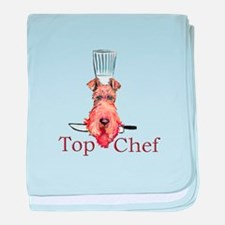 Irish Terrier Chef baby blanket
