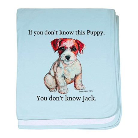 Don't Know Jack Russell baby blanket