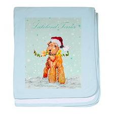 Lakeland Holiday Santa baby blanket